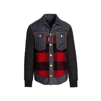 Denim Checked Shirt DSQUARED2