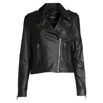 Кожаная байкерская куртка Donna LAMARQUE