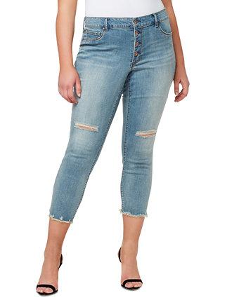 Модные джинсы скинни до щиколотки Kiss Me больших размеров Jessica Simpson