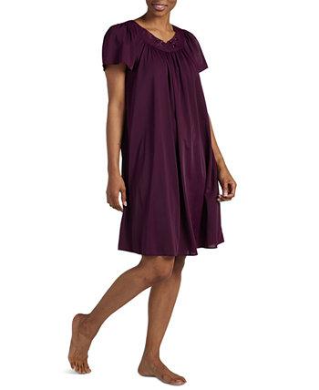 Короткое платье большого размера с трикотажными рукавами и развевающимися рукавами Miss Elaine