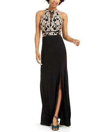 Юниорское платье с блестками и кружевом Morgan & Company