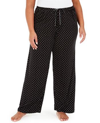 Пижамные штаны больших размеров с точечным принтом HUE