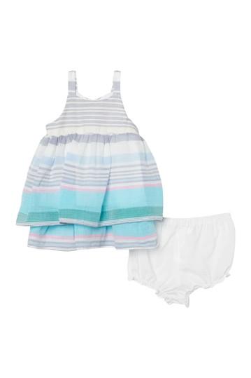 Многослойное платье в полоску (для маленьких девочек) Pippa & Julie