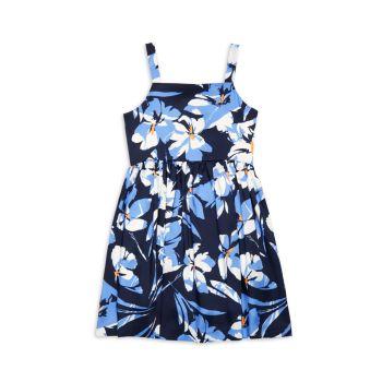 Платье-фартук со складками и цветочным рисунком для девочек Milly Minis