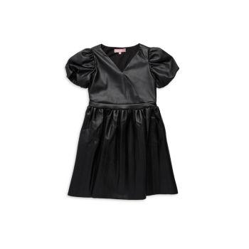 Платье из искусственной кожи для девочек BCBG Girls