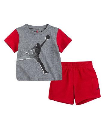 Футболка Baby Boys Jumpman и шорты карго Jordan