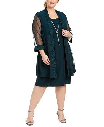 Куртка плюс размер платья и ожерелье R & M Richards