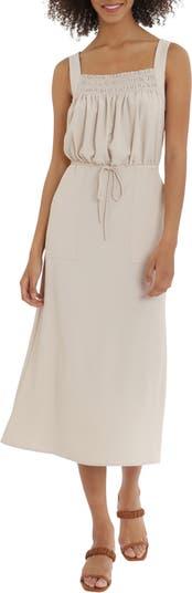 Drawcord Waist Midi Dress Maggy London