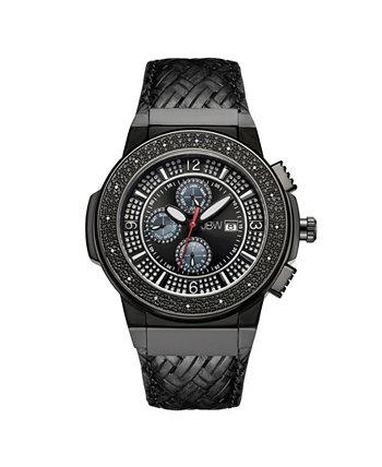 Мужские часы Saxon Diamond (1/6 карата) из нержавеющей стали с черным ионным покрытием JBW