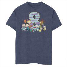 Футболка для мальчиков 8-20 Nickelodeon Rugrats с рисунком в честь 8-го дня рождения Nickelodeon