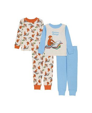 Пижама для малышей, комплект из 4 предметов Curious George