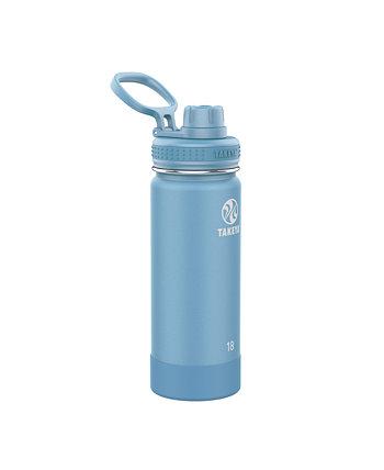 Actives 18 унций изолированная бутылка из нержавеющей стали с крышкой носика Takeya