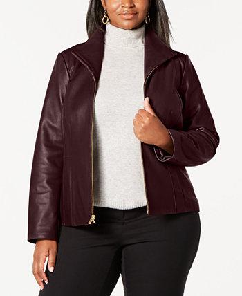 Кожаная куртка больших размеров Cole Haan