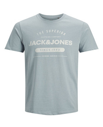 Мужская классическая джинсовая футболка с логотипом Jack & Jones