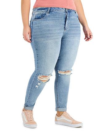 Модные рваные джинсы больших размеров Mom Tinseltown