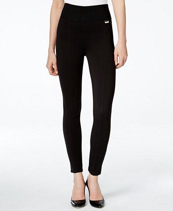 Трикотажные брюки без застежки с широким поясом Calvin Klein