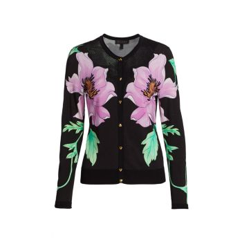 Santalou Floral Print Sweater ESCADA