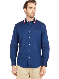 Тканая рубашка с воротником Hilfiger Tommy Hilfiger Adaptive
