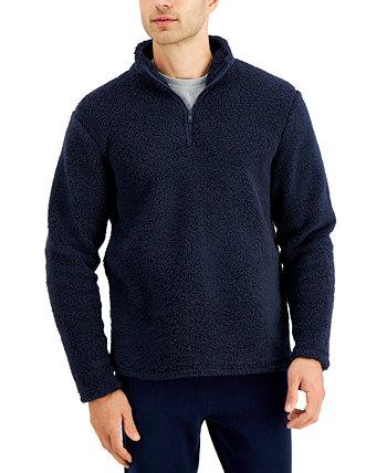 Мужской свитер из шерпа с однотонной застежкой-молнией, созданный для Macy's Sun + Stone