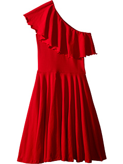 Трикотажное платье на одно плечо Zoe (Маленькие дети / Большие дети) Fiveloaves twofish