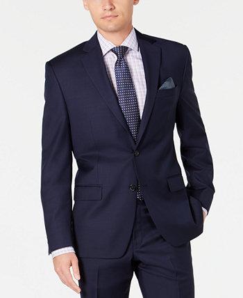 Мужская куртка Slim-Fit UltraFlex из эластичного темно-синего сплошного костюма Ralph Lauren
