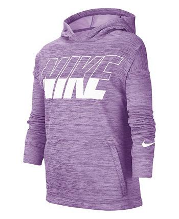 Толстовка с капюшоном для тренинга Big Girls, пуловер с графическим рисунком Nike