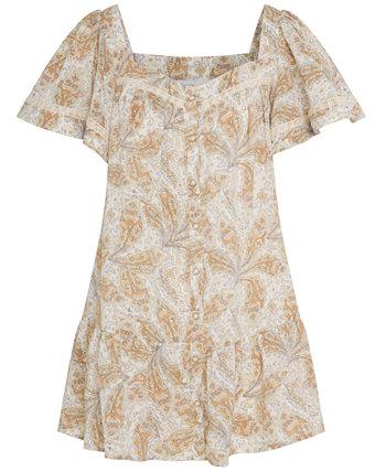 Платье с кружевной отделкой и принтом RAHI