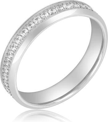Серебряное кольцо Crystal Pave Eternity Ring ADORNIA