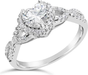Обручальное кольцо с сердечком из серебра 925 пробы Sterling Forever