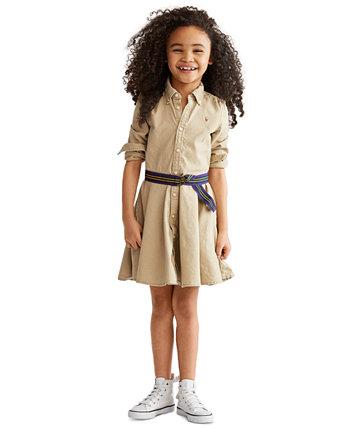 Маленькие девочки Чино Хлопок Рубашка Ralph Lauren