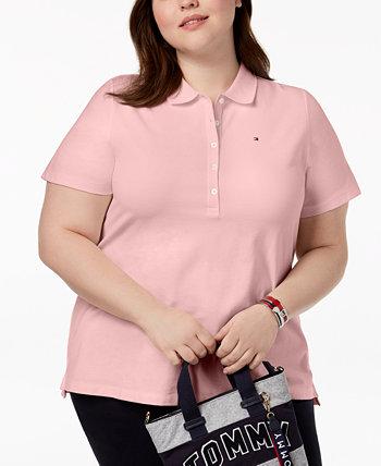 Рубашка поло большого размера из пике, созданная для Macy's Tommy Hilfiger