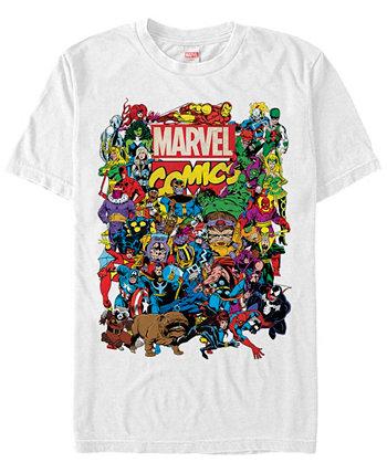 Мужская коллекция комиксов The All Marvel Мужская литая футболка с коротким рукавом Marvel