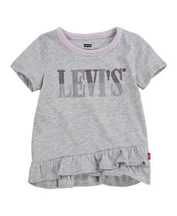 Футболка-туника Little Girls с оборками на подоле Levi's®