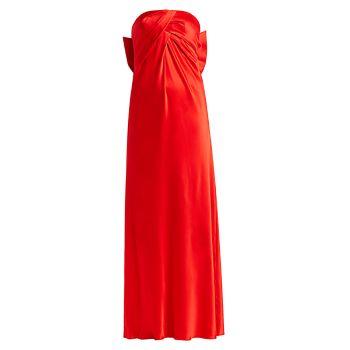 Strapless Silk Bow Gown Alberta Ferretti