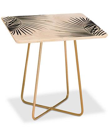 Квадратный столик Mareike Boehmer с пальмовыми листьями Deny Designs