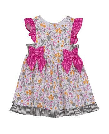 Платье с принтом кролика для маленьких девочек Rare Editions