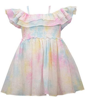 Пастельное платье-галстук для девочек с открытыми плечами Bonnie Baby