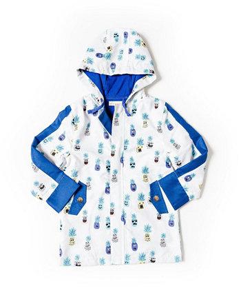 Куртка-пиджак из микрофибры для мальчиков с принтом для малышей Kinderkind