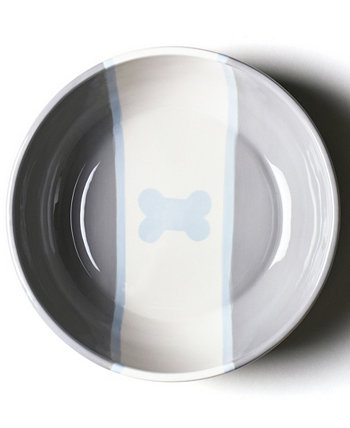 от Лауры Джонсон Stone Color Block Dog Bone Large Bowl Coton Colors