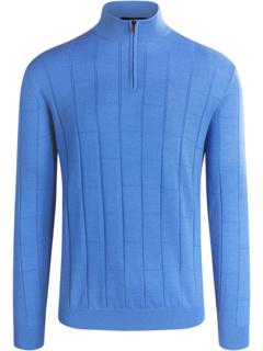 Daxton Long Sleeve Sweater 1/4 Zip Mock Neck BUGATCHI