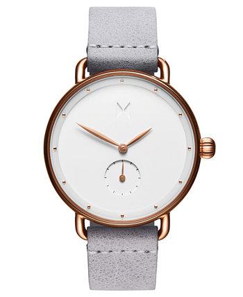 Серые кожаные часы с ремешком Bloom Ghost Iris 36 мм MVMT