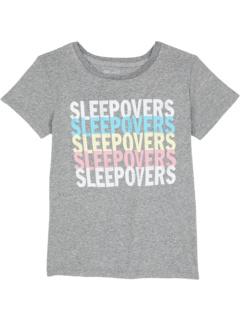 Футболка с круглым вырезом Tri-Blend Sleepover Rainbow Repeat (Big Kids) The Original Retro Brand Kids