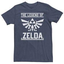 Big & Tall Nintendo The Legend Of Zelda Hyrule Crest Box Tee Nintendo