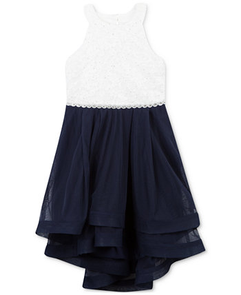 Кружевное платье с контрастными блестками для девочек Speechless