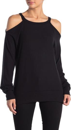Матовый свитер Hacci с открытыми плечами Go Couture