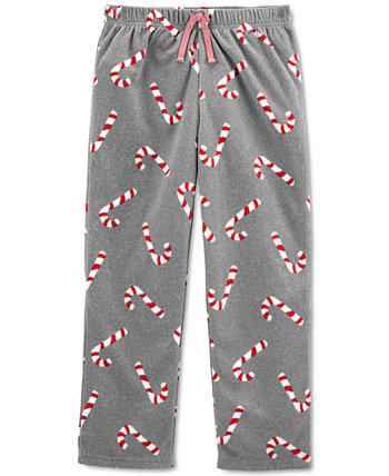 Флисовые пижамные штаны Candy Cane для маленьких и больших мальчиков и девочек Carter's