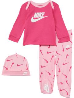 Футболка с длинным рукавом Комплект из трех штанов и шляпы (для младенцев) Nike Kids