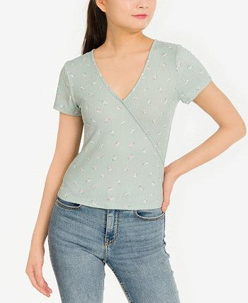 Трикотажная футболка с принтом в рубчик для юниоров Pink Rose