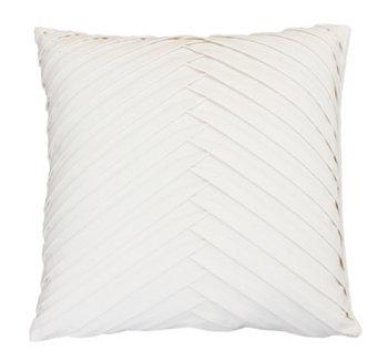 Плиссированная бархатная подушка James, 20 x 20 дюймов THRO