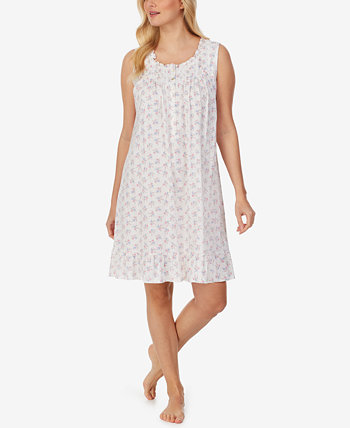 Floral-Print Ruffled Jersey Nightgown Eileen West